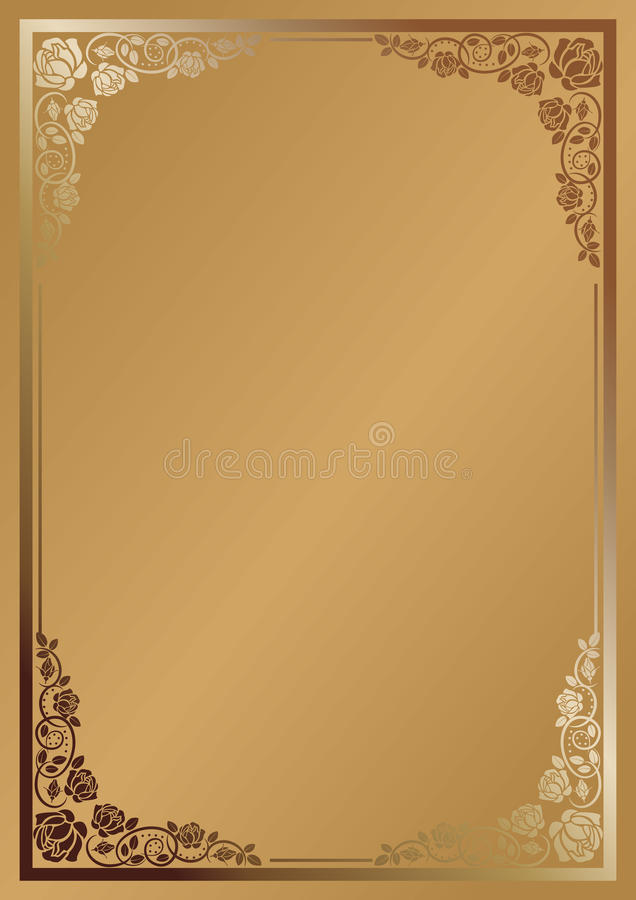 Download Background for menu stock vector. Illustration of brown - 25233558