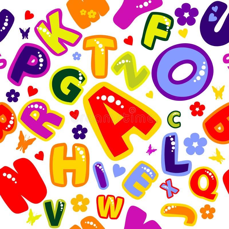 Background_merry_alphabet illustration de vecteur