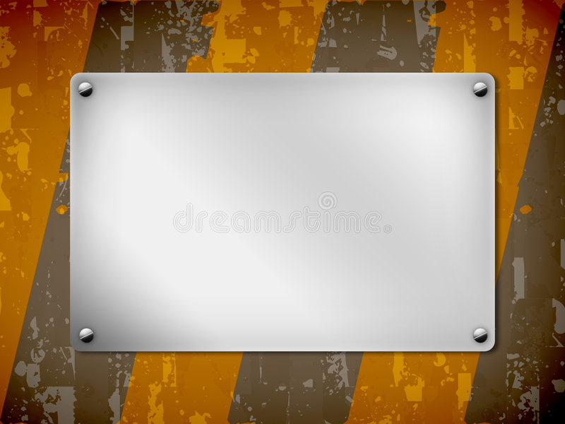 A background, metal board, texture. Illustration, background with space of text stock illustration