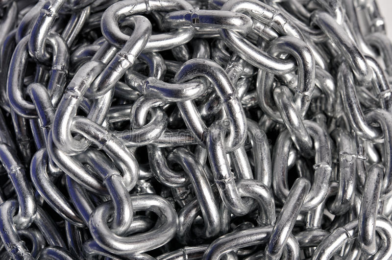 Background of metal chains stock images