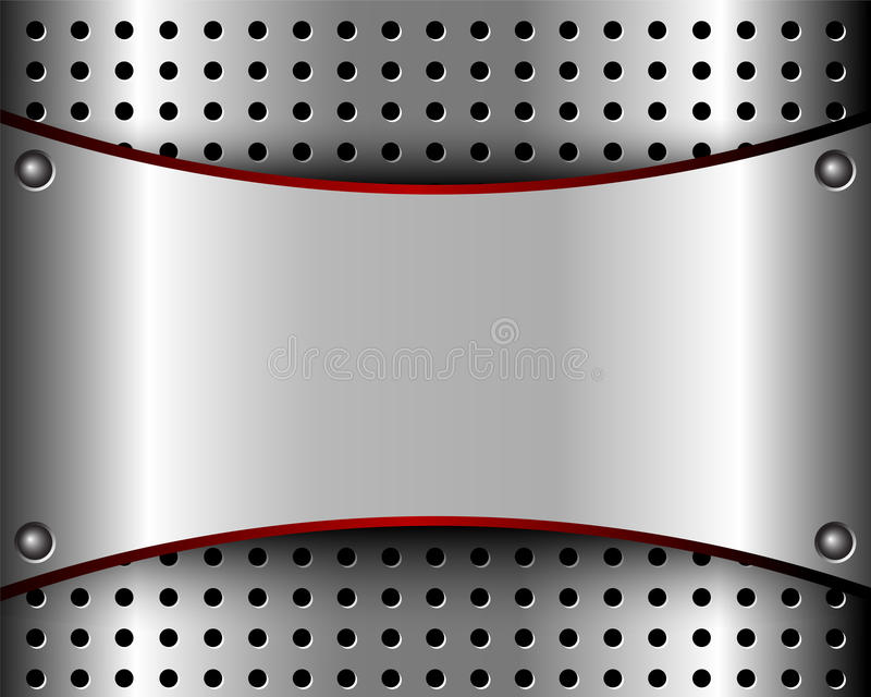 Background with a metal plate and grille. Background with a metal plate and bars for your design royalty free illustration