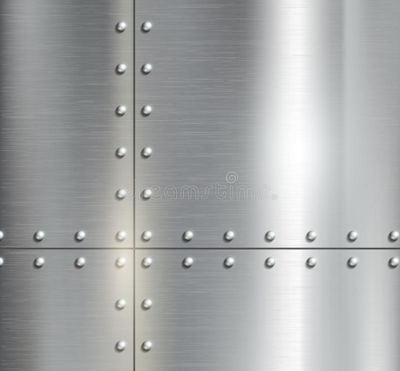 Background of the metal plates stock illustration