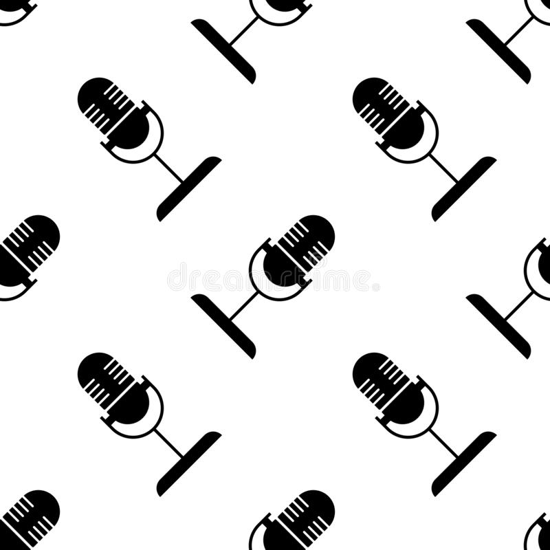 Background microphone ellipse black incline royalty free illustration
