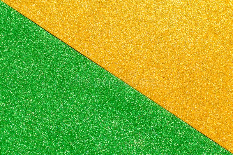 Background mixed glitter texture gold and green, abstract background isolated royalty free stock photos