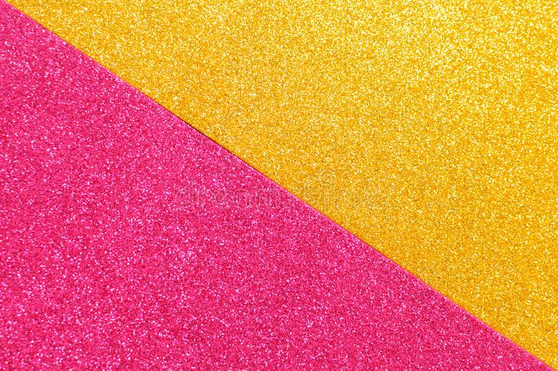 Background mixed glitter texture gold and pink, abstract background isolated. Background mixed glitter texture gold and pink abstract background isolated royalty free stock photography