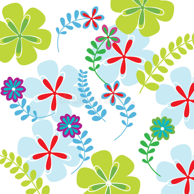 Background modern flowers royalty free illustration