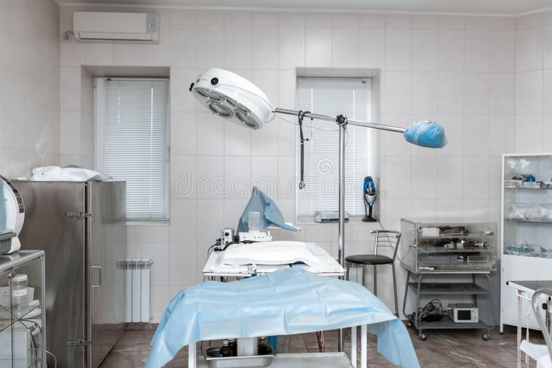 Background of modern operating room at hospital royalty free stock photography