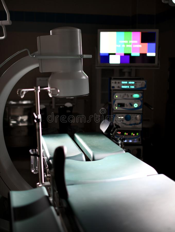Background of modern operating room at medical hospital interior with the anesthesiology machine equipment. And medical devices in modern operating emergency stock images