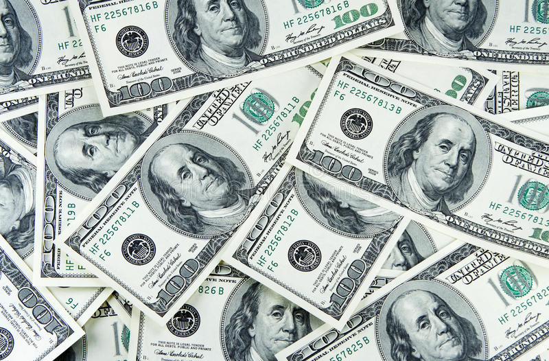 Background from money of dollars royalty free stock photo