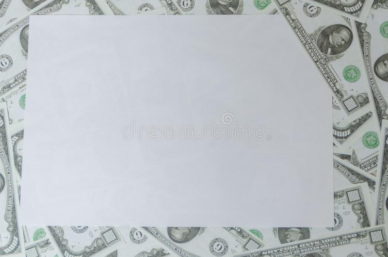Place the graphic on the background of dollars, based on the she stock photos
