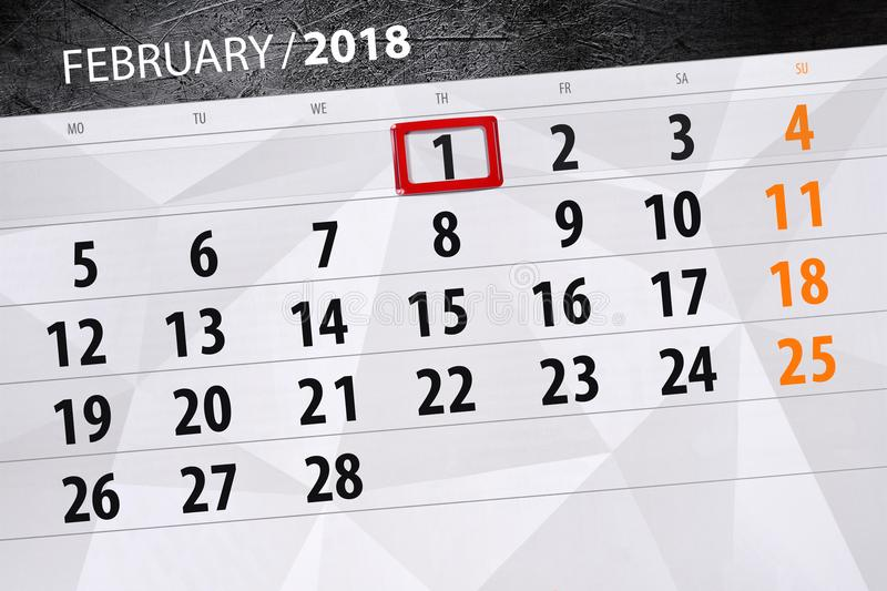 Background Daily Monthly Business Calendar Scheduler 2018 February 1. Background Daily Monthly Business Calendar Scheduler 2018 February stock illustration