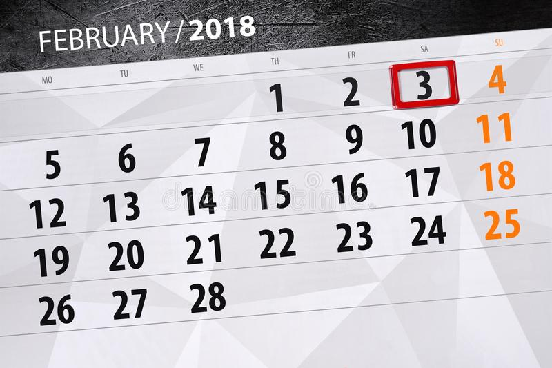 Background Daily Monthly Business Calendar Scheduler 2018 February 3. Background Daily Monthly Business Calendar Scheduler 2018 February royalty free illustration