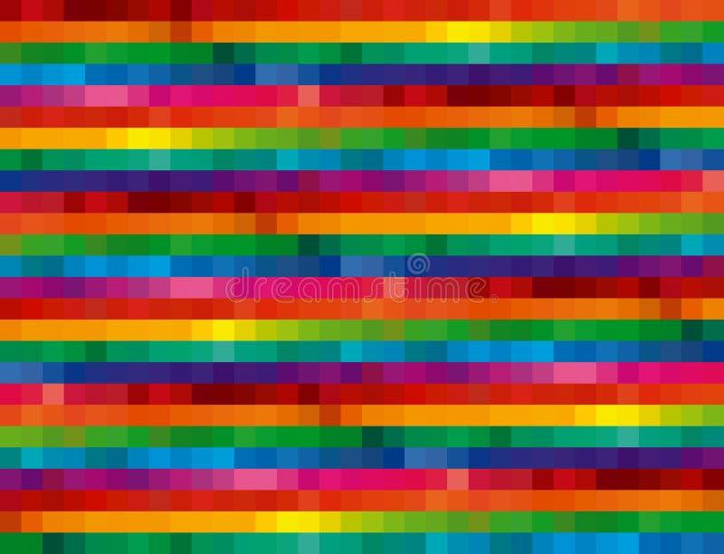 background mosaic rainbow royalty ilustracja