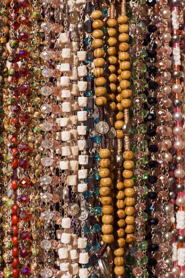 Background from multi-colored beads stock images