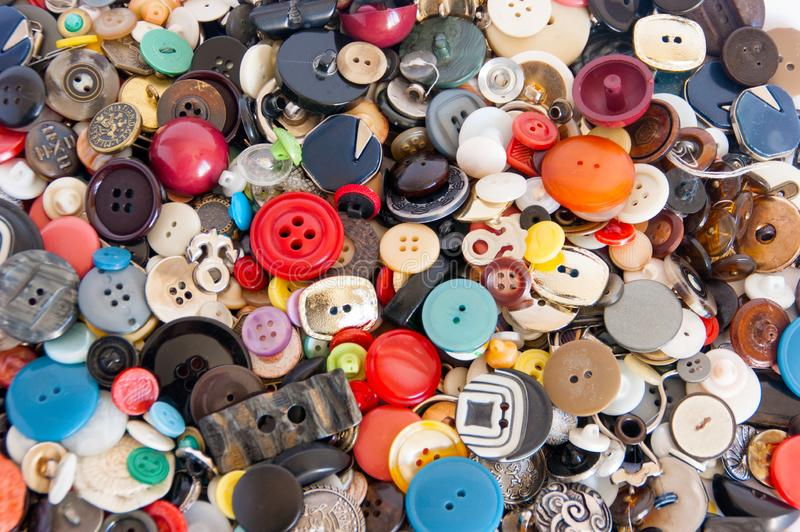 Background from multi-colored buttons stock image