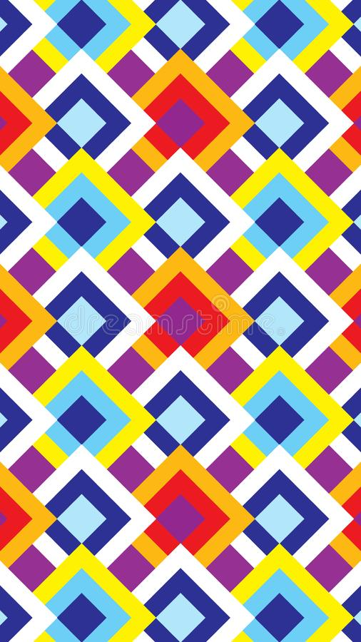 The background of the multi-colored rhombic. Suitable for the background of mobile phones. Vector stock illustration