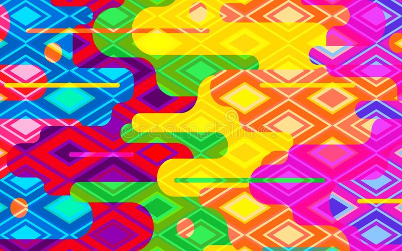 The background of the multi-colored rhombic. Suitable for the background of mobile phones. Vector royalty free illustration
