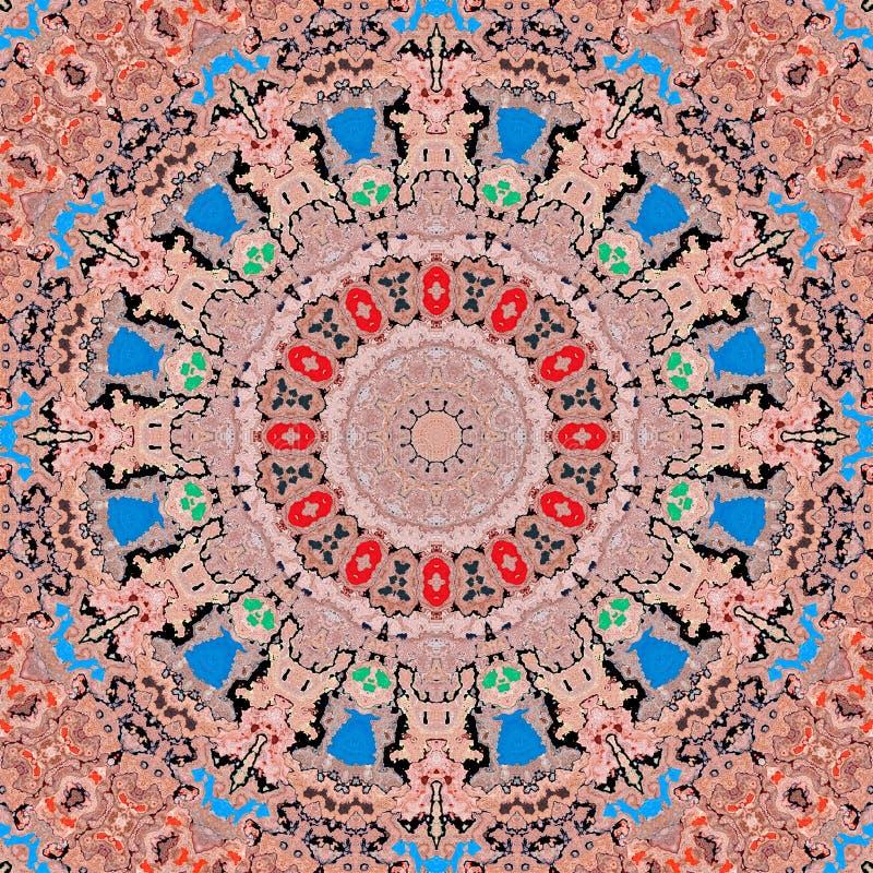 Background multicolor abstract kaleidoscope colorful. backdrop kalamkari stock illustration