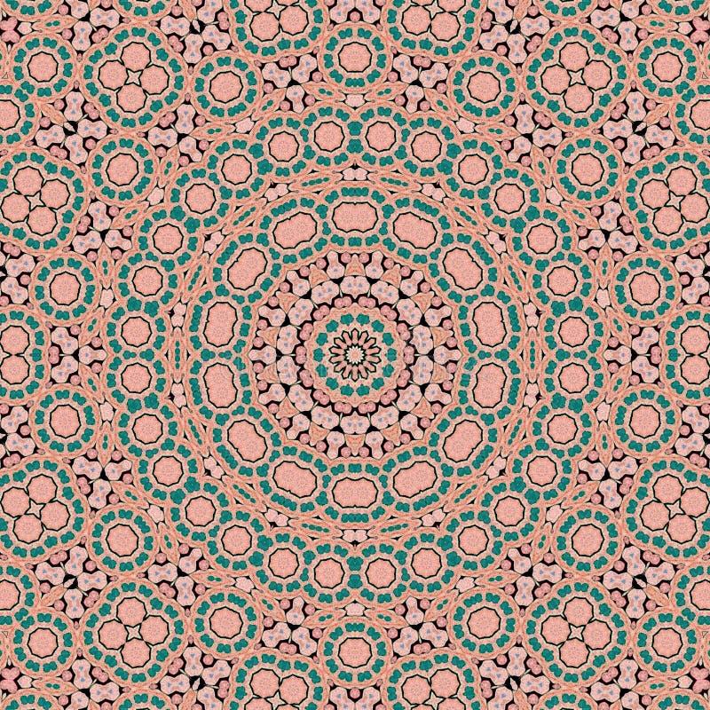 Background multicolor abstract kaleidoscope colorful. boho boohoo royalty free illustration