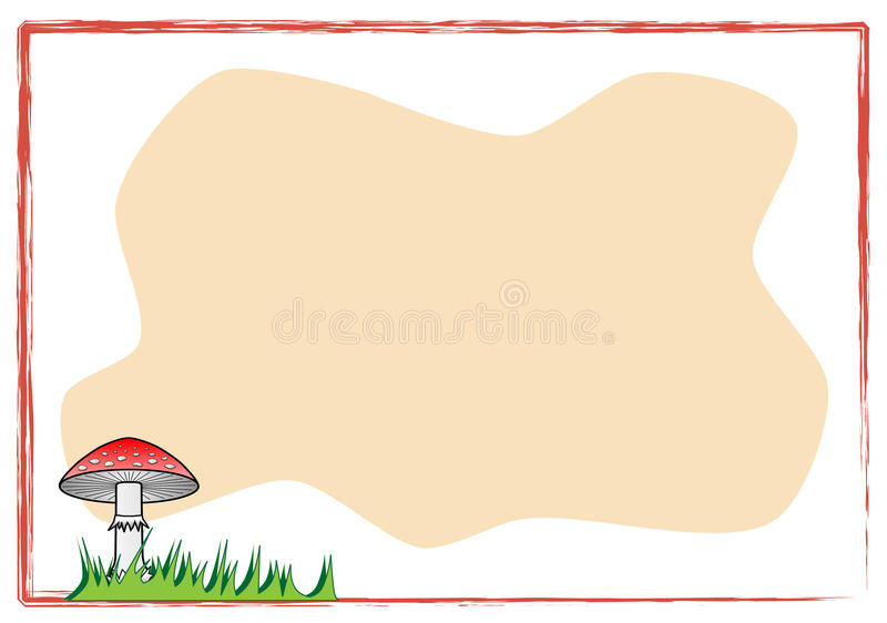 Background with mushroom stock photography