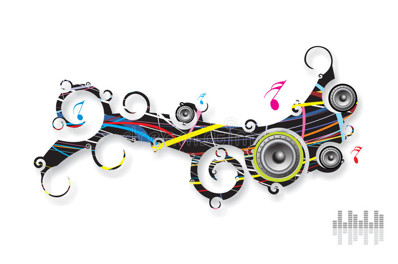 background music royaltyfri illustrationer