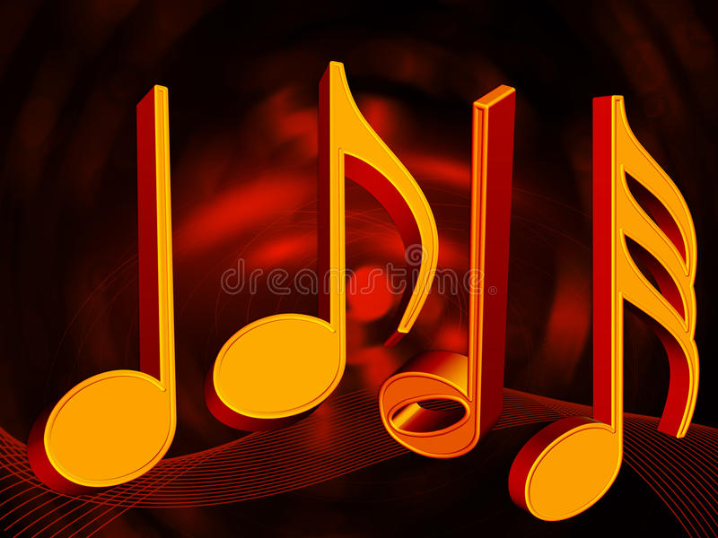 Background with musical notes stock photos