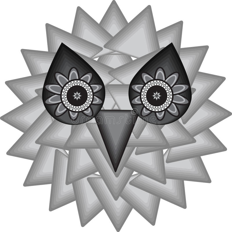 Background of the mystical owl royalty free illustration