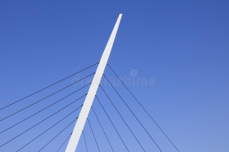 background Nature bluesky and support pole pillars royalty free stock photography