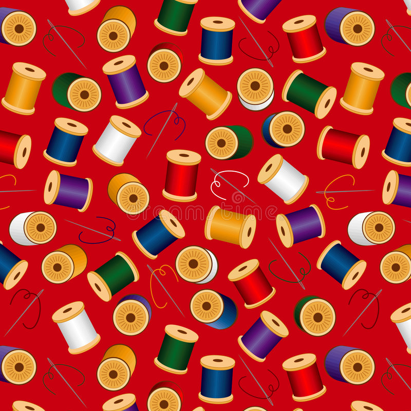 background needles red seamless threads иллюстрация штока