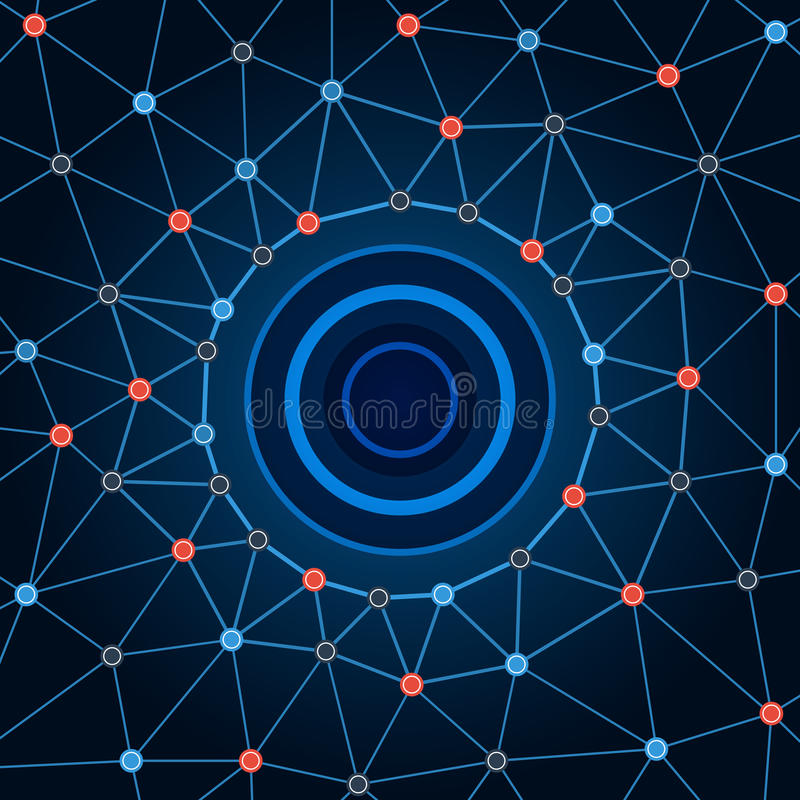 Background network. Background circles dots and lines. vector illustration