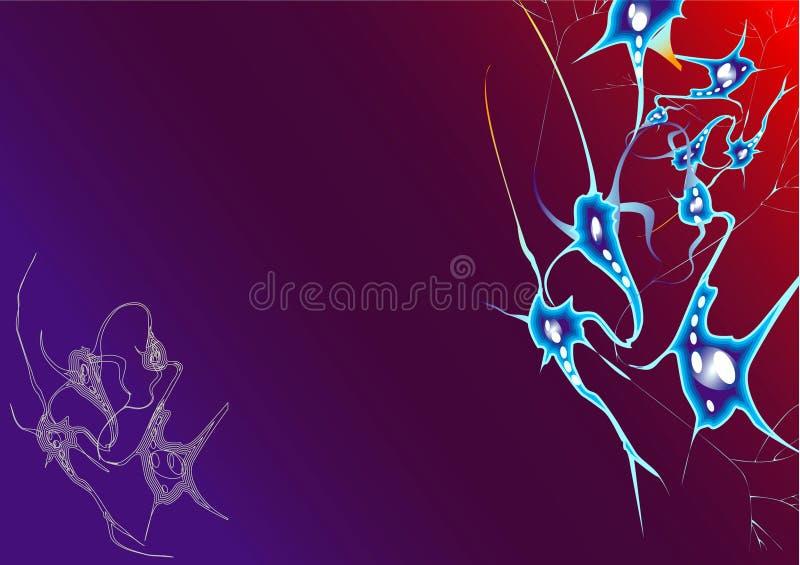 Background _Neurons RedBlue royalty free stock photos