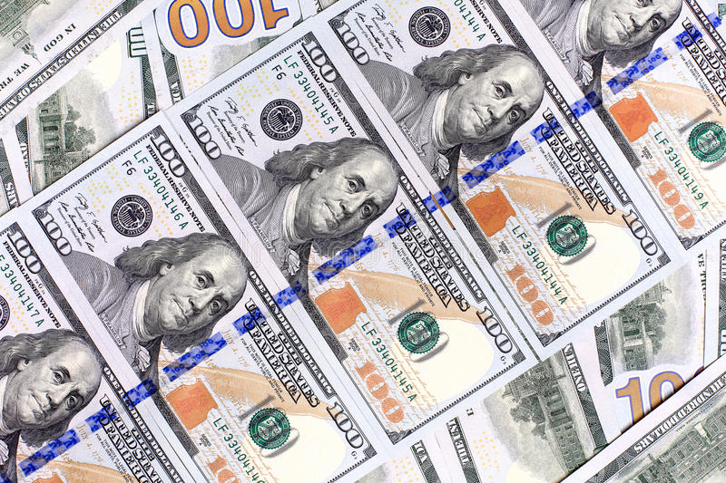 Download Background Of The New U.S. Hundred-dollar Bills Put Into Circula Stock Image - Image: 35405061