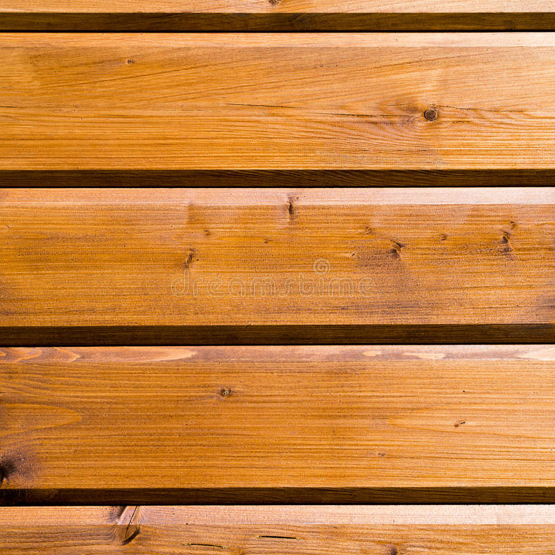 Background of new wood pine planed oiled timber royalty free stock photography