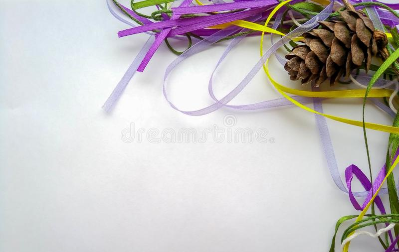 Background for the new year bump with ribbons royalty free stock image