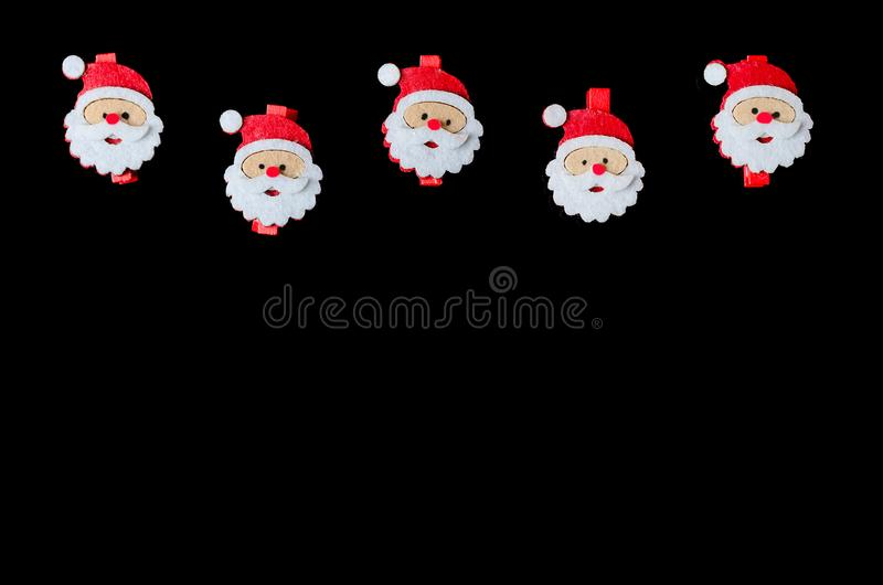 Background for the New Year or the day of St. Nicholas. Christmas background top view with copy space stock images