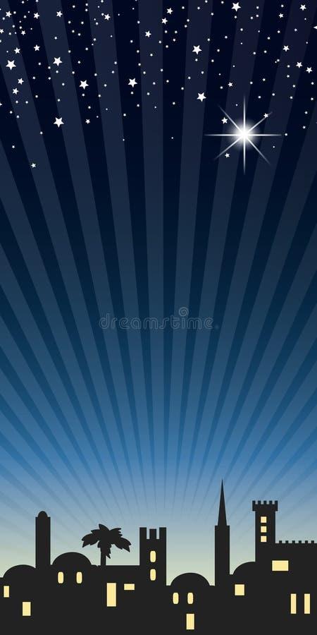 Background night bethlehem. For christmas stock illustration