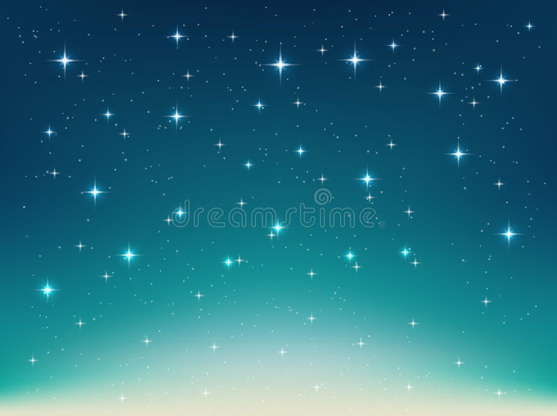 Background with night, stars in the sky, shining light. Vector background with night, stars in the sky, shining light. Abstract natural background with stars for vector illustration