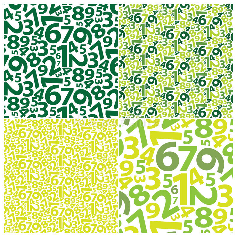 Background With Numbers Royalty Free Stock Photos