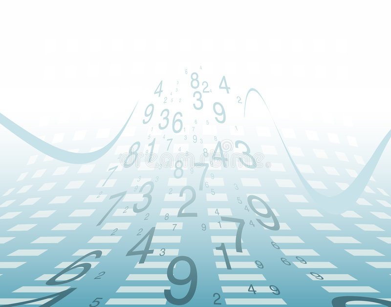 Background numbers. Business growth numbers and sweeping waves