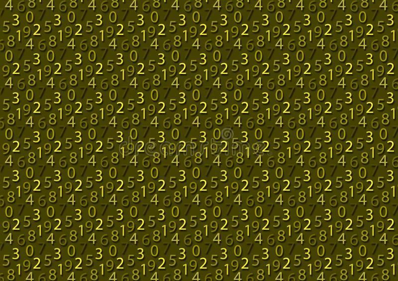Background with numbers in the shade of color green royalty free stock images