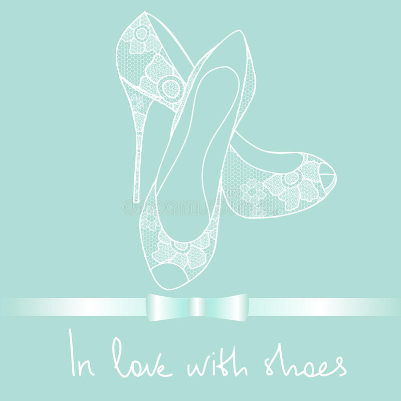 Free Background Of Lace Pair Of Shoes Royalty Free Stock Photo - 30447785