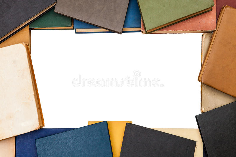 Background from old books stock image
