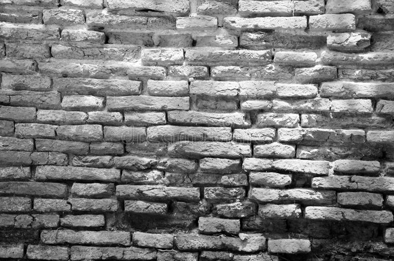 Background Of Old Broken Brick Wall Texture Stock Photo
