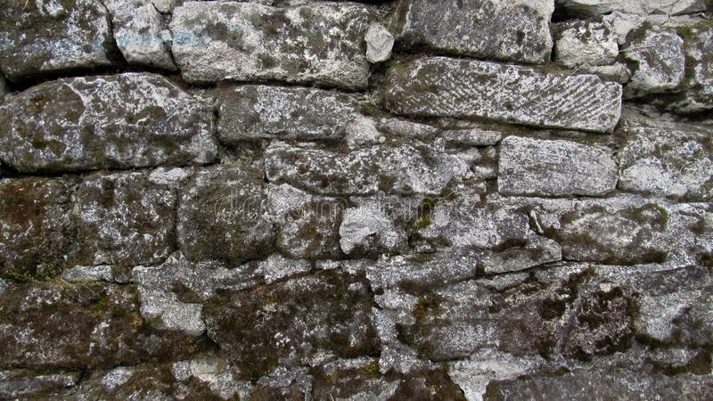 Background of old gray stone. the wall of a large gray stone. old stone wall texture royalty free stock images