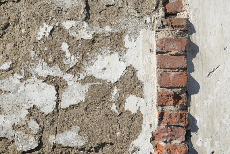 Background, old masonry brick wall. In Winterswijk in the Netherlands royalty free stock image