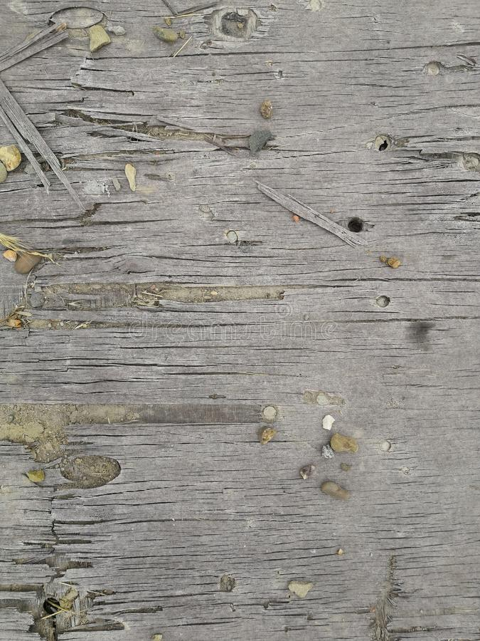 Old gray wooden fence texture background. natural wooden dark empty room with messy and grungy crack beech royalty free stock images