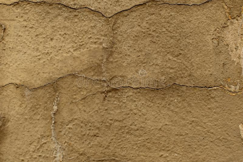 Background of old paint and plaster. Cracks and bubbles. Old wall.Medieval Europe stock photos