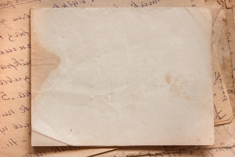 Background with old papers and letters royalty free stock images