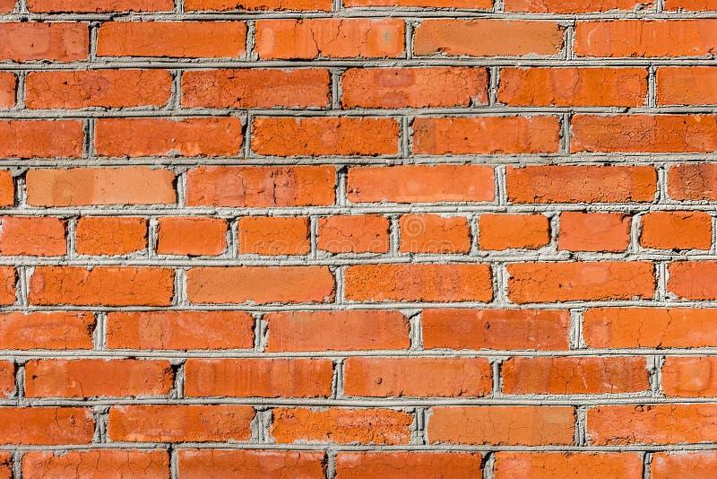Background of old red brickwork stock images
