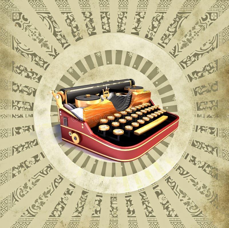Download Background With Old Typewriting Machine Stock Illustration - Illustration: 18440073